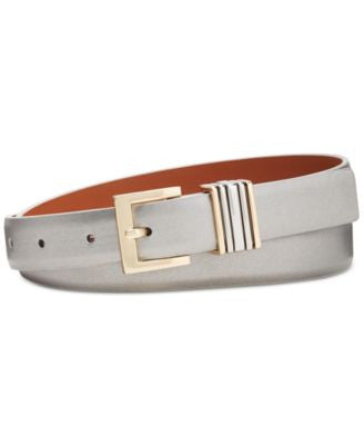 Anne Klein Smooth Multi Keeper Skinny Belt