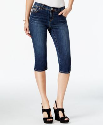 INC International Concepts Curvy-Fit Cropped-Leg Beautiful Wash Jeans, Only at Vogily