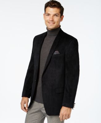 Tallia Men's Big & Tall Textured Velvet Solid Sport Coat