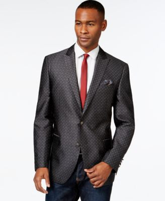 Tallia Men's Big & Tall Vasco Patterned Sport Coat