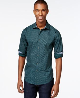 Tallia Men's Mini-Floral Button-Front Shirt