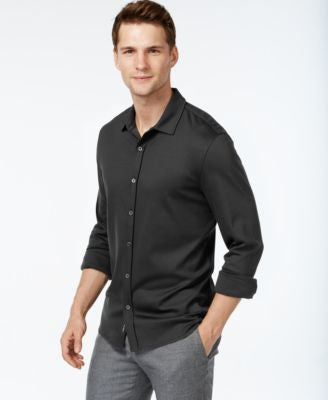 Michael Kors Men's Button-Front Spread-Collar Shirt