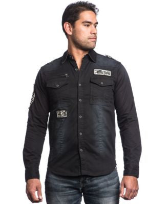 Affliction Men's Royal Flush Button-Front Shirt