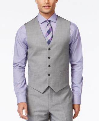 Tommy Hilfiger Grey Sharkskin Classic-Fit Vest