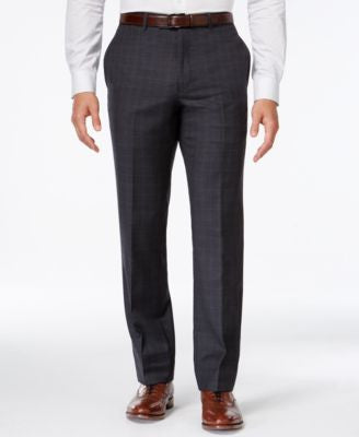 Tommy Hilfiger Charcoal Windowpane Slim-Fit Pant