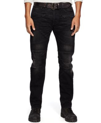 Denim & Supply Ralph Lauren Men's Slim-Fit Rockwell Moto Jeans