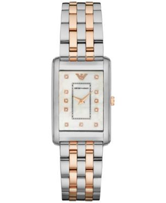 Emporio Armani Women's Marco Slim Two-Tone Stainless Steel Bracelet Watch 30x25mm AR1905