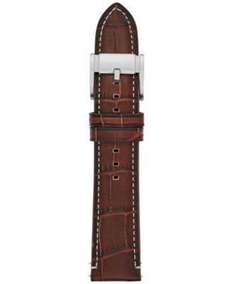Fossil Men's Brown Leather Watch Strap 22mm S221256