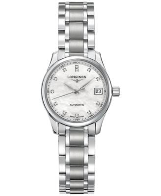 Longines Women's Swiss Automatic Conquest Diamond (1/2 ct. t.w.) Stainless Steel Bracelet Watch 36mm