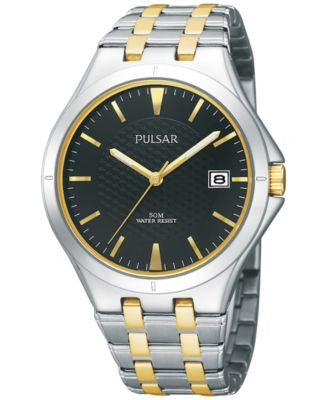 Pulsar Men's Dress Sport Two-Tone Stainless Steel Bracelet Watch 38mm PXH909