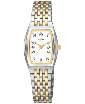 Pulsar Women's Basic Dress Two-Tone Stainless Steel Bracelet Watch 20mm PTC403