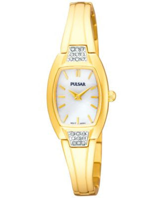 Pulsar Women's Gold-Tone Stainless Steel Bangle Bracelet Watch 19mm PTA506