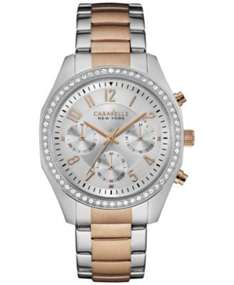 Caravelle New York by Bulova Women's Chronograph Two-Tone Stainless Steel Bracelet Watch 36mm 45L148