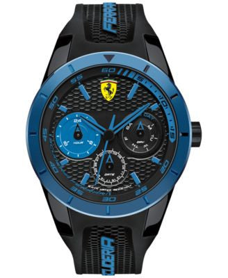 Scuderia Ferrari Men's RedRev T Black Silicone Strap Watch 44mm 830256
