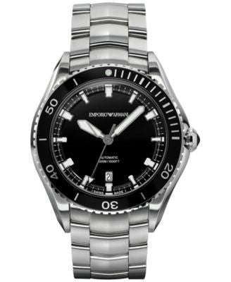 Emporio Armani Men's Swiss Automatic Sport Stainless Steel Bracelet Watch 43mm ARS9002