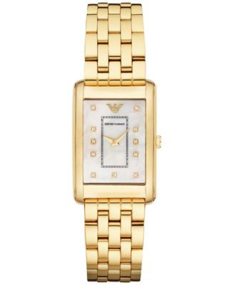 Emporio Armani Women's Metro North Gold-Tone Stainless Steel Bracelet Watch 30x25mm AR1904