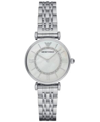 Emporio Armani Women's Gianni T-Bar Stainless Steel Bracelet Watch 32mm AR1908