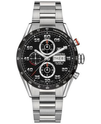 TAG Heuer Men's Swiss Automatic Chronograph Carrera Calibre 16 Stainless Steel Bracelet Watch 43mm C