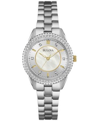 Bulova Women's Stainless Steel Bracelet Watch 30mm 98L223
