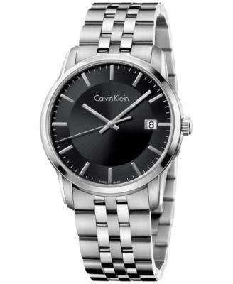 Calvin Klein Men's Swiss Infinite Stainless Steel Bracelet Watch 42mm K5S31141