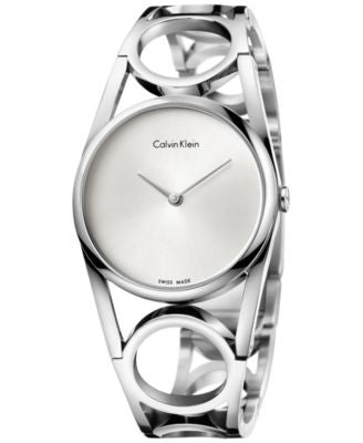 Calvin Klein Women's Swiss Round Stainless Steel Bracelet Watch 34mm K5U2S146