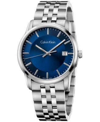 Calvin Klein Men's Swiss Infinite Stainless Steel Bracelet Watch 42mm K5S3114N