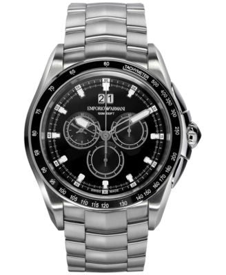 Emporio Armani Men's Swiss Chronograph Sport Stainless Steel Bracelet Watch 44mm ARS9100