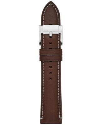 Fossil Men's Brown Leather Watch Strap 22mm S221245