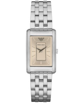 Emporio Armani Women's Marco Slim Stainless Steel Bracelet Watch 30x25mm AR1903