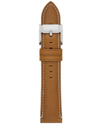 Fossil Men's Tan Leather Watch Strap 22mm S221246