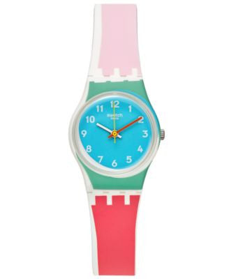 Swatch Women's Swiss Sport Mixer Multi-Color Silicone Strap Watch 25mm LW146