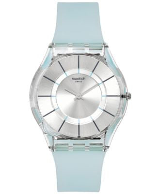 Swatch Women's Swiss Tech Mode Blue Silicone Strap Watch 34mm SFK397