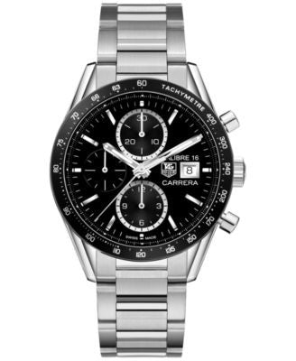 TAG Heuer Men's Swiss Automatic Carrera Calibre 16 Stainless Steel Bracelet Watch 41mm CV201AJ.BA072