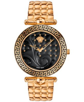 Versace Men's Swiss Rose Gold-Tone Ion-Plated Stainless Steel Bracelet Watch 40mm VK723 0015