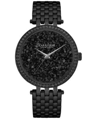 Carvelle New York by Bulova Women's Black Stainless Steel Bracelet Watch 38mm 45L147