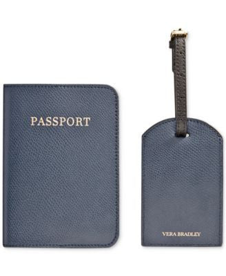 Vera Bradley Travel Companions Passport Holder and Luggage Tag
