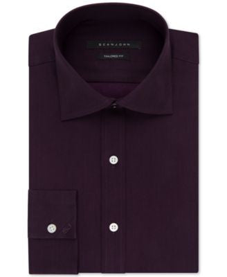 Sean John Fig Solid Dress Shirt