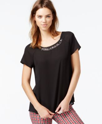 Sanctuary Bella Short-Sleeve Embellished Top