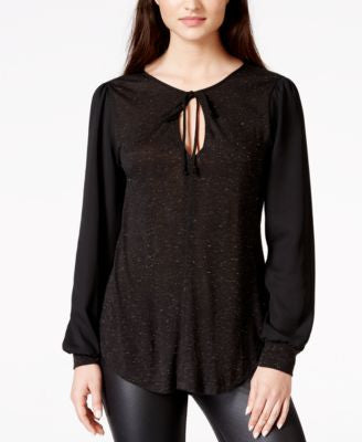 Sanctuary Edendale Metallic Contrast Top