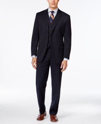 Lauren Ralph Lauren Navy Solid Big and Tall Classic-Fit Suit Separates