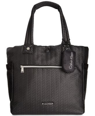 Calvin Klein Cire Reversible Extra Large Quilted Nylon Tote