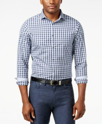 Michael Kors Derek Checked Button-Front Shirt