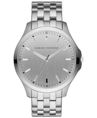 A|X Armani Exchange Men's Diamond Accent Stainless Steel Bracelet Watch 46mm AX2170