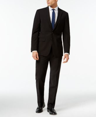 Calvin Klein X-Fit Black Solid Extra Slim Fit Suit Separate