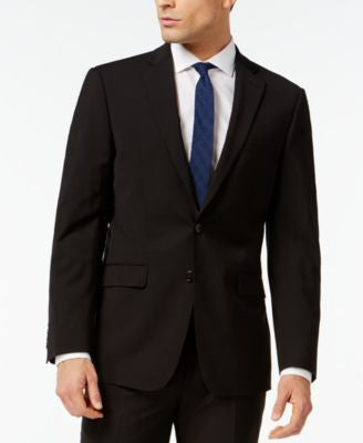Calvin Klein X-Fit Black Solid Extra Slim Fit Jacket