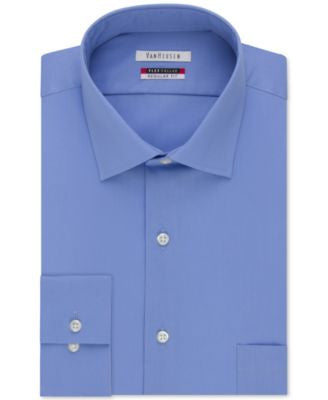 Van Heusen Big and Tall Tek Fit Collar Solid Dress Shirt