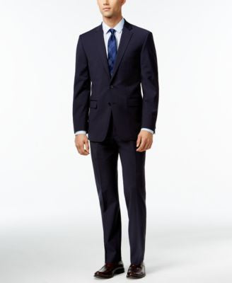 Calvin Klein X-Fit Navy Solid Extra Slim Fit Suit Separate