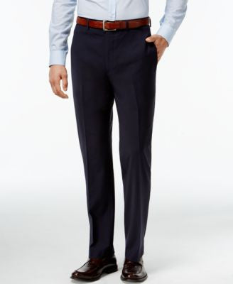 Calvin Klein X-Fit Navy Solid Extra Slim Fit Pants