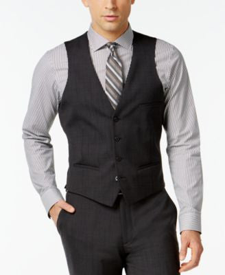 Bar III Dark Charcoal Slim-Fit Vest
