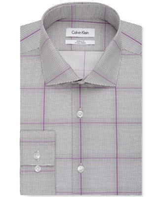 Calvin Klein Infinite Stretch Fitted Check Dress Shirt